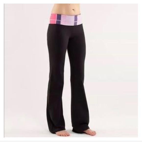 d92ff58d6 lululemon athletica Pants - Lululemon Groove colorblock reversible pants
